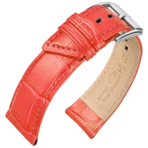 Hirsch Princess Watch Strap Alligator Grain Salmon
