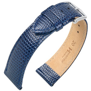 Hirsch Rainbow Watch Band Lizardgrain Blue