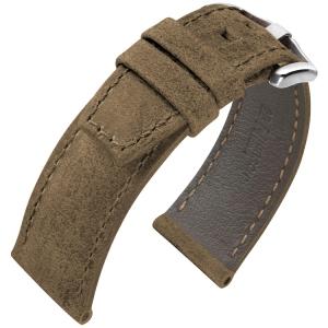 Hirsch Tritone Watch Strap for Panerai Kudu Antelope Skin Matte Brown