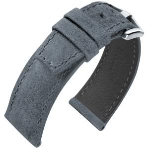Hirsch Tritone Watch Strap for Panerai Kudu Antelope Skin Matte Gray