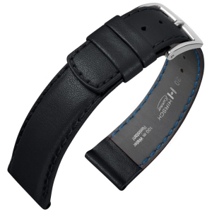 Hirsch Runner Waterproof Watch Band Calf Skin Black
