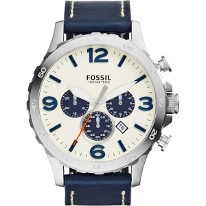 Fossil JR1480 Watch Strap Blue Leather