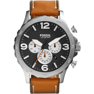 Fossil JR1486 Watch Strap Brown Leather