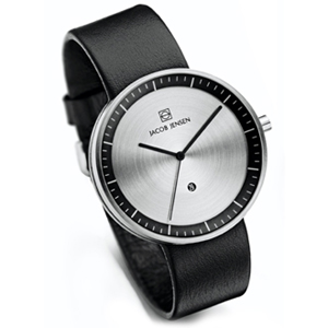 Jacob Jensen Watch Band Strata 270, 274 black leather 20mm