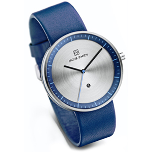 Jacob Jensen Watch Band Strata 272, blue leather 20mm
