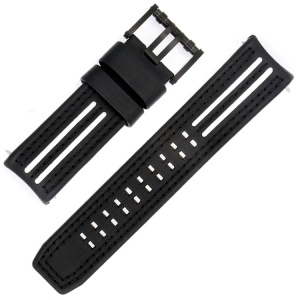 Luminox Tony Kanaan Models 1146/1147 Watch Strap Black and White Leather 26mm - FE.1140.21B