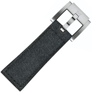 Marc Coblen / TW Steel Watch Strap Dark Blue Denim on Leather 22mm