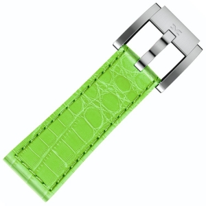 Leather Marc Coblen Watch Strap Light Green Alligator 22mm