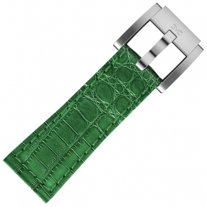 Leather Marc Coblen Watch Strap Dark Green Alligator 22mm