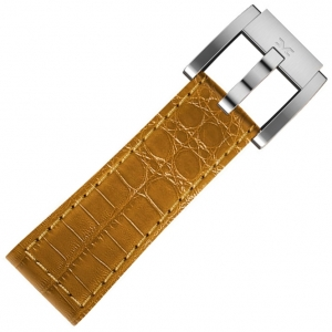 Leather Marc Coblen Watch Strap Camel Alligator 22mm