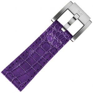 Leather Marc Coblen Watch Strap Purple Alligator 22mm