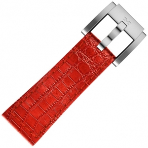 Marc Coblen / TW Steel Watch Strap Red Leather Alligator 22mm