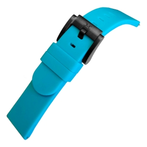 Marc Coblen / TW Steel Silicone Watch Strap Turquoise 22mm