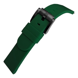 Marc Coblen / TW Steel Silicone Watch Strap Dark Green 22mm