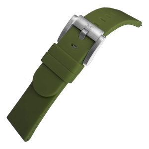 Marc Coblen / TW Steel Silicone Watch Strap Army Green 22mm