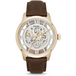 Fossil ME3043 Watch Strap Brown Leather
