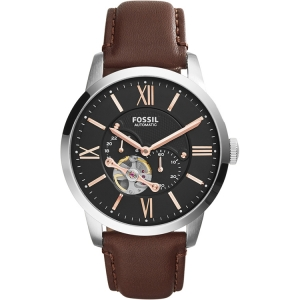 Fossil ME3061 Watch Strap Brown Leather