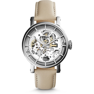 Fossil ME3069 Watch Strap Beige Leather