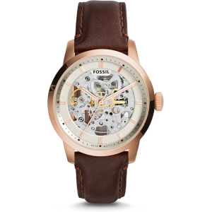 Fossil ME3078 Watch Strap Brown Leather