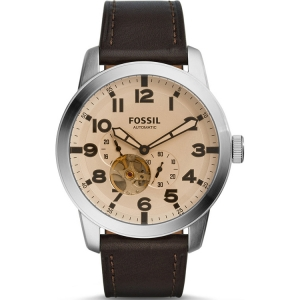 Fossil ME3119 Watch Strap Brown Leather