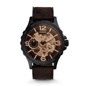 Fossil ME3127 Watch Strap Brown Leather