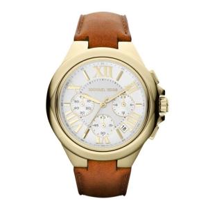 Michael Kors MK2266  Watch Strap Brown Leather