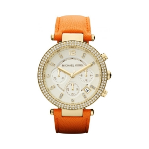 Michael Kors MK2279 Watch Strap Orange Leather