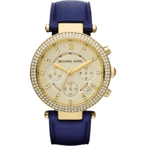 Michael Kors MK2280 Watch Strap Blue Leather