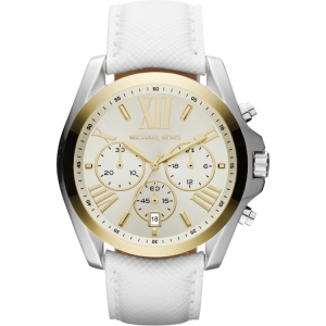 Michael Kors MK2282 Watch Strap White Leather