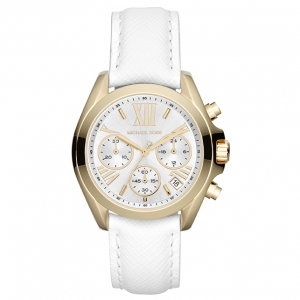Michael Kors MK2302 Watch Strap White Leather