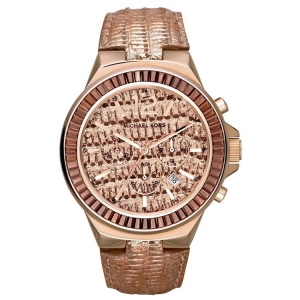 Michael Kors MK2305 Watch Strap Rose Gold Coloured Leather