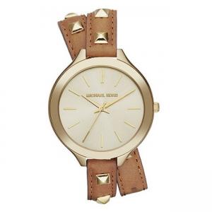 Michael Kors MK2309 Watch Strap Brown Leather