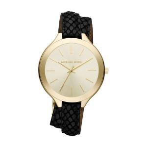 Michael Kors MK2315 Watch Strap Black Leather