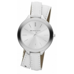 Michael Kors MK2325 Watch Strap White Leather