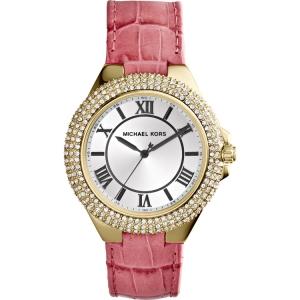 Michael Kors MK2329 Watch Strap Pink Leather