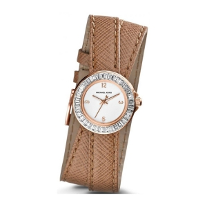 Michael Kors MK2338 Watch Strap Brown Leather