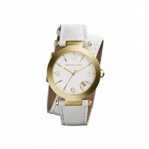 Michael Kors MK2345 Watch Strap White Leather