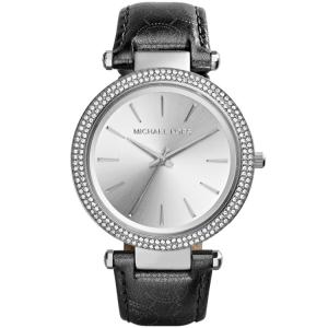 Michael Kors MK2350 Watch Strap Black Leather