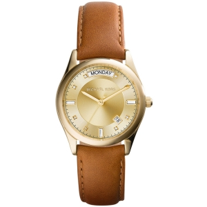Michael Kors MK2374 Watch Strap Brown Leather