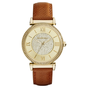 Michael Kors MK2375 Watch Strap Brown Leather