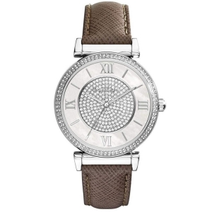 Michael Kors MK2377 Watch Strap Brown Leather