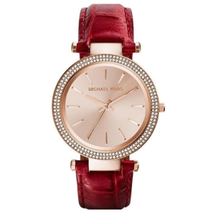 Michael Kors MK2383 Watch Strap Red Leather
