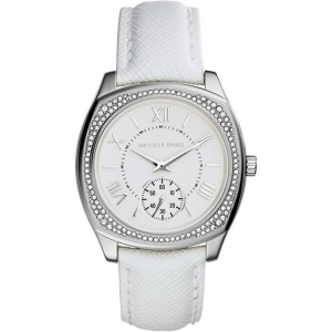 Michael Kors MK2385 Watch Strap White Leather