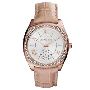 Michael Kors MK2388 Watch Strap Beige Leather