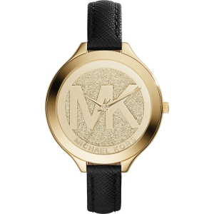 Michael Kors MK2392 Watch Strap Black Leather