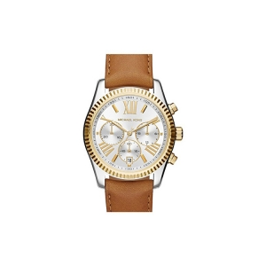 Michael Kors MK2420 Watch Strap Brown Leather