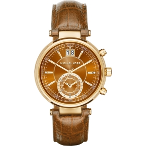 Michael Kors MK2424 Watch Strap Brown Leather