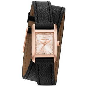 Michael Kors MK2442 Watch Strap Black Leather