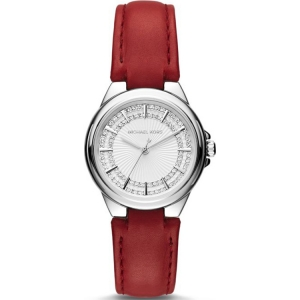 Michael Kors MK2474 Watch Strap Red Leather