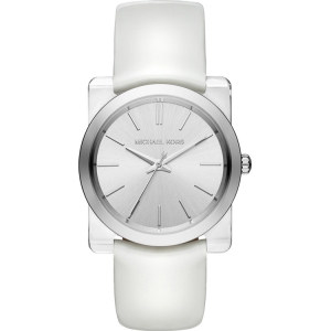 Michael Kors MK2482 Watch Strap White Leather